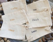Personalized Name Card Bags - Wedding - Bridal - Baby - Parties