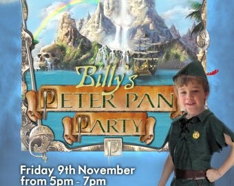 Peter Pan Party Printable Invitation - with Photo