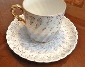 Blue & Gold Antique Tettau Cup and Saucer - Royal Bayreuth