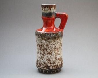 Red handled Jopeko Fat Lava vase