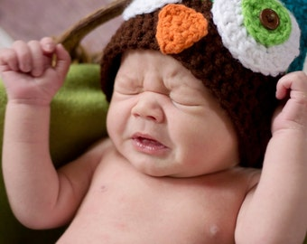 Adorable Owl Hat - Beanie Style for Boys or Girls!