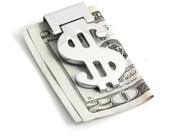 Personalized Dollar Sign Quality money clip - Free Engraving