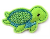 NO Slip Felt Hair Clip- SEATURTLE