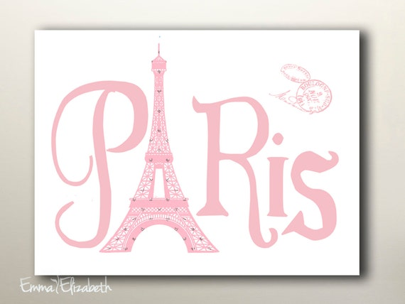 Paris With Love Paris Typography Wall Decor Vintage By