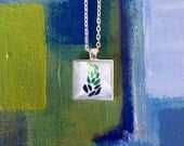 Kaelyn's Peaceful Leaves Square Pendant