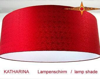 Red lamp shade KATHARINA Ø60 cm silk lampshade in royal red