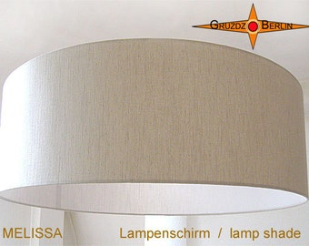 Linen lamp shade MELISSA Ø45 cm country style lamp