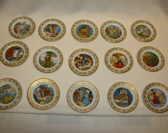 Franklin Porcelain Best Loved Fairy Tales by Carol Lawson, signed edition, fine bone china