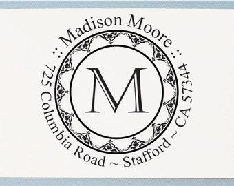Custom Initial Name Address Stamp - Return Address Stamp - Personalized Address Stamp - AA13