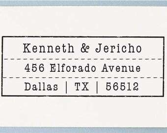 Custom Return Address Stamp, Personalized Address Stamp, Vintage Old Stamp Design - AS18