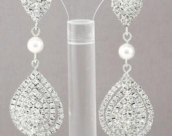 Bridal Wedding Earrings Swarovski Pearl Earrings Pearl Drop Earrings Bridal Jewelry Wedding Jewelry