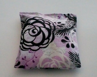 Samhain Blend Reiki Rest and Relaxation Small Square  Herbal Dream Pillow in FANCY FLOWERS