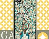 iPhone 6 Case, iPhone 6 Plus Case, iPhone 6 Edge Case, iPhone 5 Case, Galaxy S6 Case, Galaxy S5 Case, Note 5 - Vintage Tree Of Life Aqua