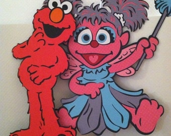 "Sesame Street's Abby Cadabby and Elmo 11"" Centerpiece Picks or Decorations"