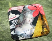 Collaged Marie Antoinette Large Glass Magnet