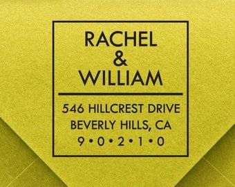 CUSTOM ADDRESS STAMP, personalized pre inked address stamp, pre inked custom address stamp, return address stamp with proof - d5-14