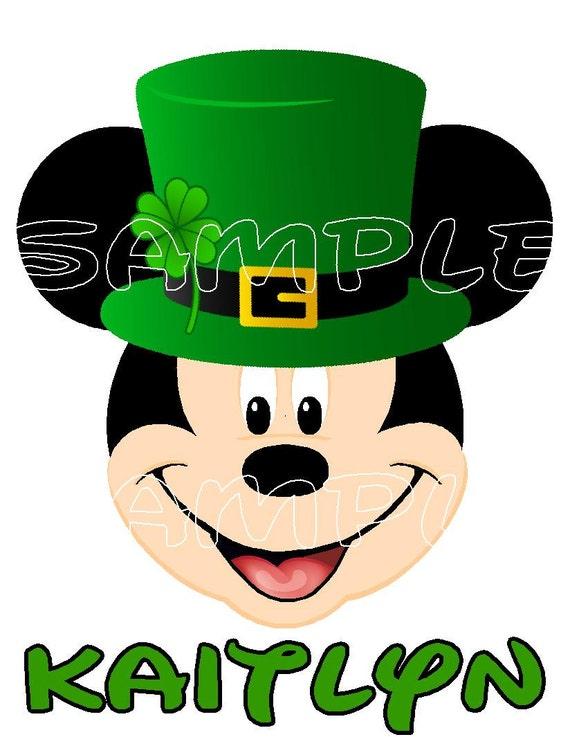 Custom Personalized Mickey Mouse Leprechaun St Patricks Day