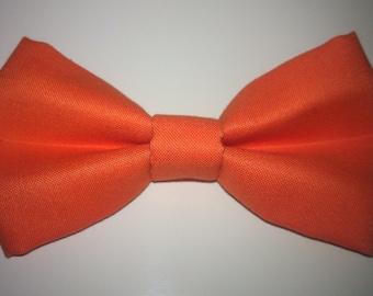 Bright Orange Dog or Cat Slide On Bow Tie Collar Accessory