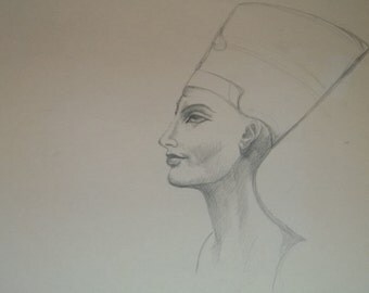 Drawing of Nefertiti