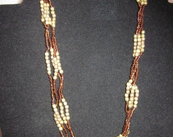 4 strand necklace with beads