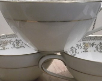 Noritake China Gracelyn 5856  Made in Japan Trio of Tea/Coffee Flat Cups