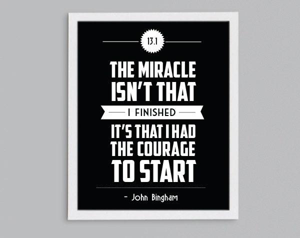 half marathon running inspirational john bingham quote