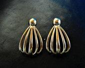 Vintage Monet Gold Tone Earrings