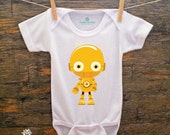 SALE//Graphic One Piece Baby Bodysuit for Baby Boy or Baby Girl,Baby Clothes,Baby Shower,Baby Christmas,Baby Birthday,Star Wars Baby,C3P0