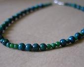 17-inch green australian jasper necklace