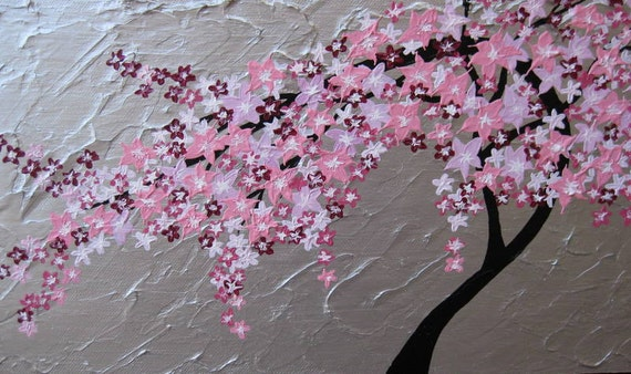 Unavailable listing on etsy for Cherry blossom mural works