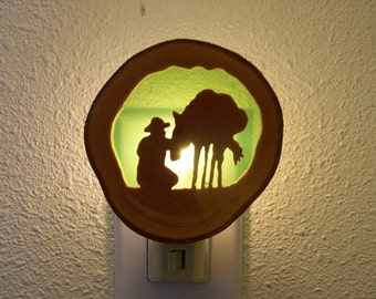Cowboy and horse nightlight