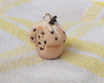 Sweet Little Chocolate Chip Muffin Necklace