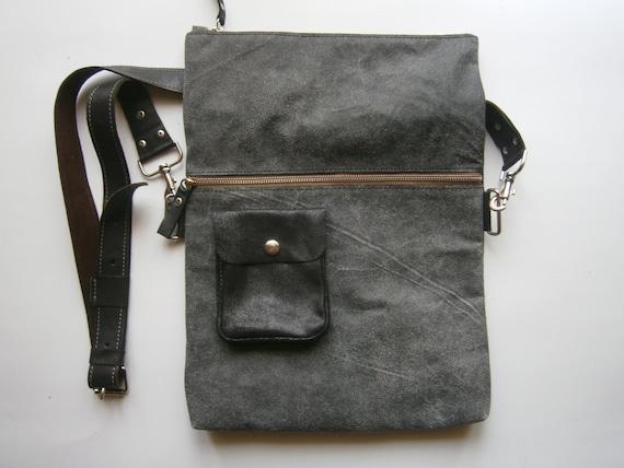 Crossbody Bag, Large Folders Bag, Folded Bag, Folded handmade genuine leather bag,  Office bag, messenger bag, crossbody bag