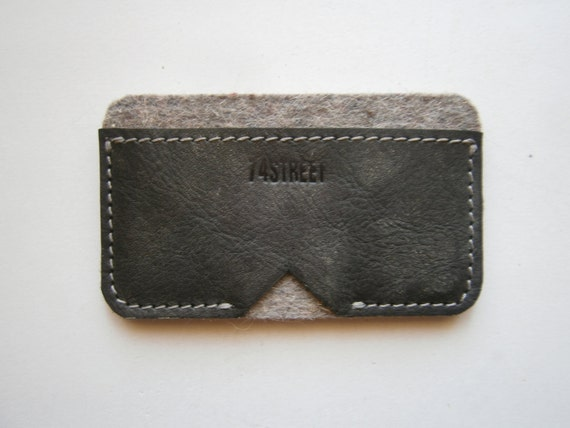 Business Card Case,Grooms gift, Best men gift, Wedding gif, Card Case,Handmade Card Case,Leather and Felt Card Case, Made to Order Card Case