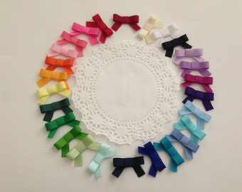 3 Pack Baby Hair Bow - Newborn/Baby Mini Cheer Bow Hair Clips - Choose From 26 Colors - 1.5 Inch Non Slip Snap Clip
