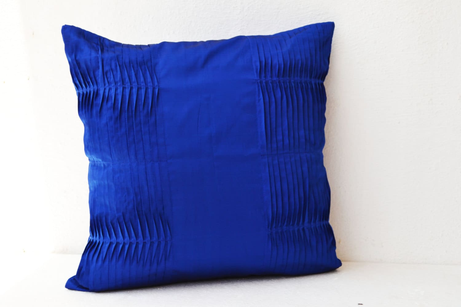 Throw Pillows Royal Blue : Decorative cushion Royal Blue pillow cover Cotton Silk Throw
