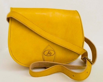 Shahrazad Mustard Leather bag