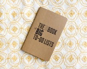 The Little Book of Big To-Do Lists Notebook with Hand Printed Letterpress Cover, Moleskine Pocket Notebook Cahier