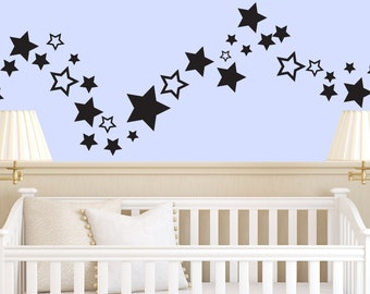 Star Confetti Wall Decals   Set Of 40   Stars   Wall Decals   Decals   Part 75