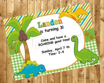 Dino-Roar Invitation