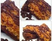 Ooey Gooey Caramel Coconut Brownies - 4 Brownies
