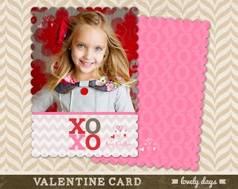Valentines Day Card Template Valentines Day for Photographers Boutique Shape INSTANT DOWNLOAD
