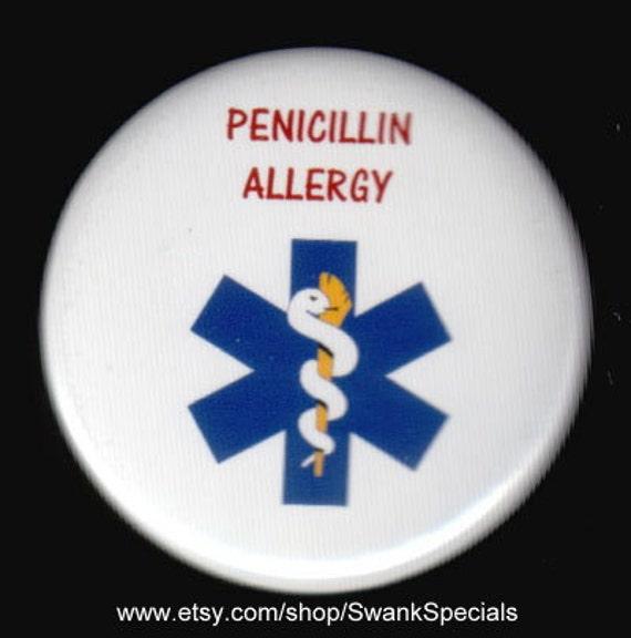 Medic alert button - Penicillin allergy