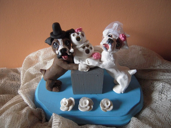 wedding cake toppers with dog uk custom made wedding cake toppers bad dogs 26632
