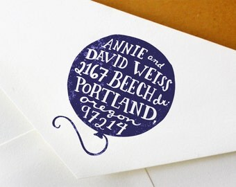 Return Address Stamp: Handmade Balloon Stamp - Great for Wedding, Snail Mail, and Work Correspondence