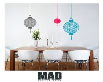 wall sticker wall decal  CHINESE LANTERNS, 3 colours