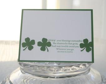 Irish Blessing and Shamrocks St. Patrick's Day Card