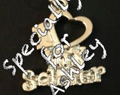 I Love My Soldier Charm - Rhodium Plated