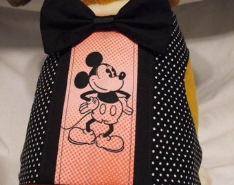 dressy pink and black mickey harness