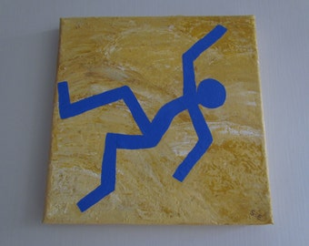 """Small original painting """"The Blue Dancer""""-series"""